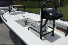Tiller Control Pod Grab Bar - all aluminum fabricated in house