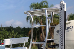 Rod Holders welded on Poling Platform - all aluminum fabricated in house